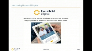 Webinar – Introduction to Household Capital 14 June 2019